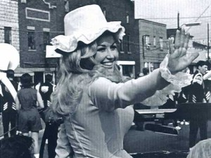 Dolly Parton in the 'Dolly Parade' in her hometown of Sevierville, TN