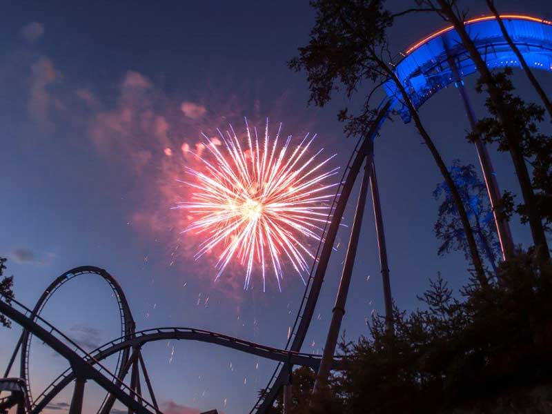 Fireworks Show Highlights Dollywood's New Year's Eve Celebration