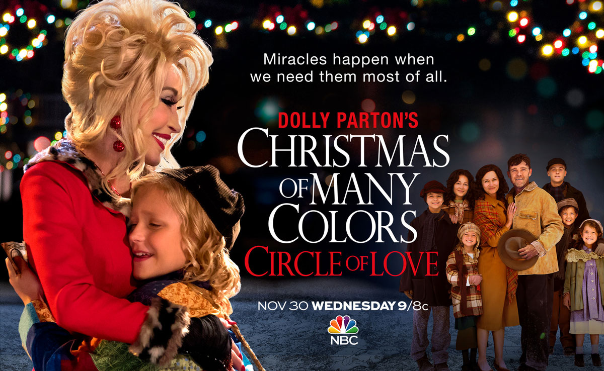 Image result for DOLLY PARTON'S CHRISTMAS OF MANY COLOURS - CIRCLE OF LOVE (2016)