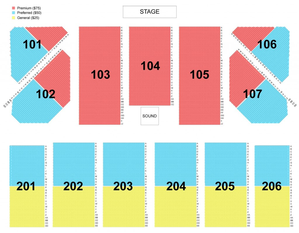 Pure & Simple November 15, 2016 Seating Chart