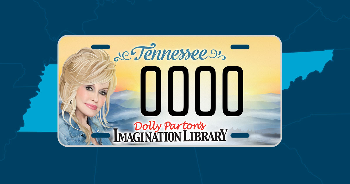 Dolly Parton License Plate Benefits Imagination Library