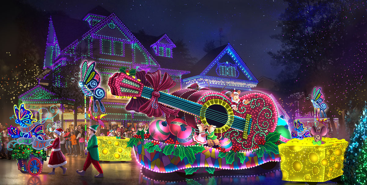 Dollywood Christmas.Dollywood S 2 5 Million Parade Of Many Colors