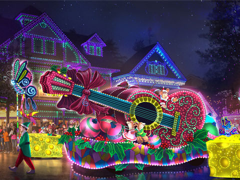 Dollywood's $2.5 Million Parade of Many Colors