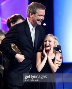 Sam Haskell and Alyvia Alyn Lind at Movieguide® Awards