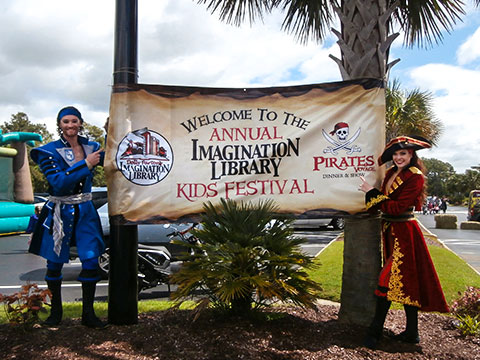 Pirates Voyage Hosts 13th Annual Imagination Library Kid's Festival