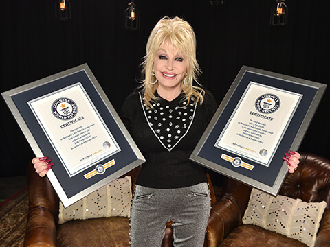 Dolly Parton Earns Her Spot In The Guinness World Records