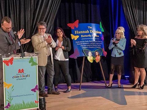 Dolly Parton Unveils Hannah Dennison Butterfly Garden At Vanderbilt Children's Hospital