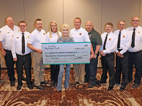 Fire Departments Receive $200,000 From Dolly Parton's My People Fund