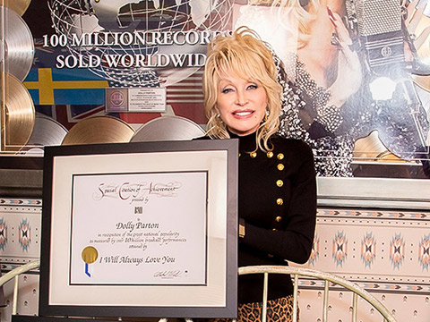 """Dolly Parton Receives 7 """"Million-Air"""" Certificates From BMI & Included In USA TODAY's Women of the Century"""
