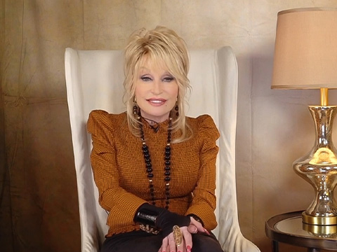 Colorful childhood memories of fall are on Dolly Parton's mind this year.