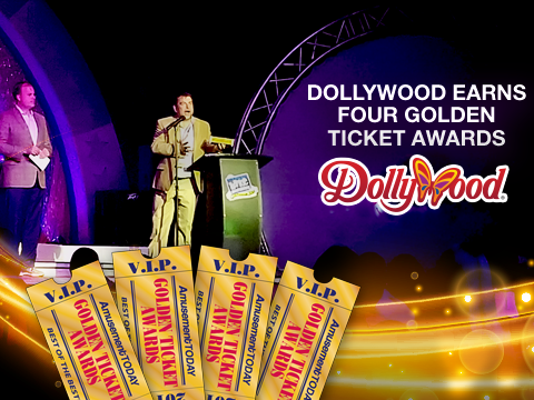 Dollywood Earns Four Golden Ticket Awards
